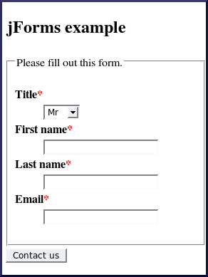 Css contact form examples for Simple php page template